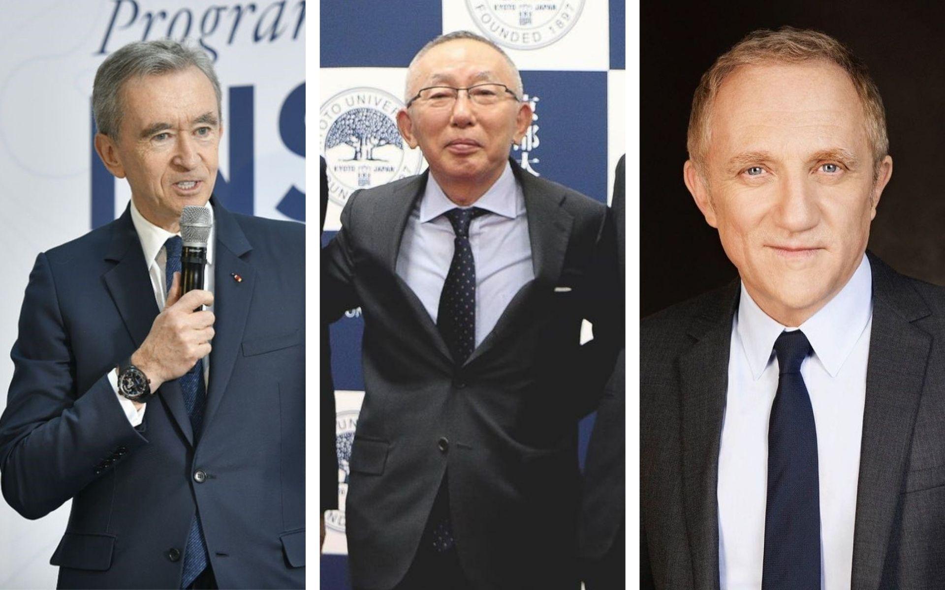 Bernard Arnault, Tadashi Yanai and François Pinault