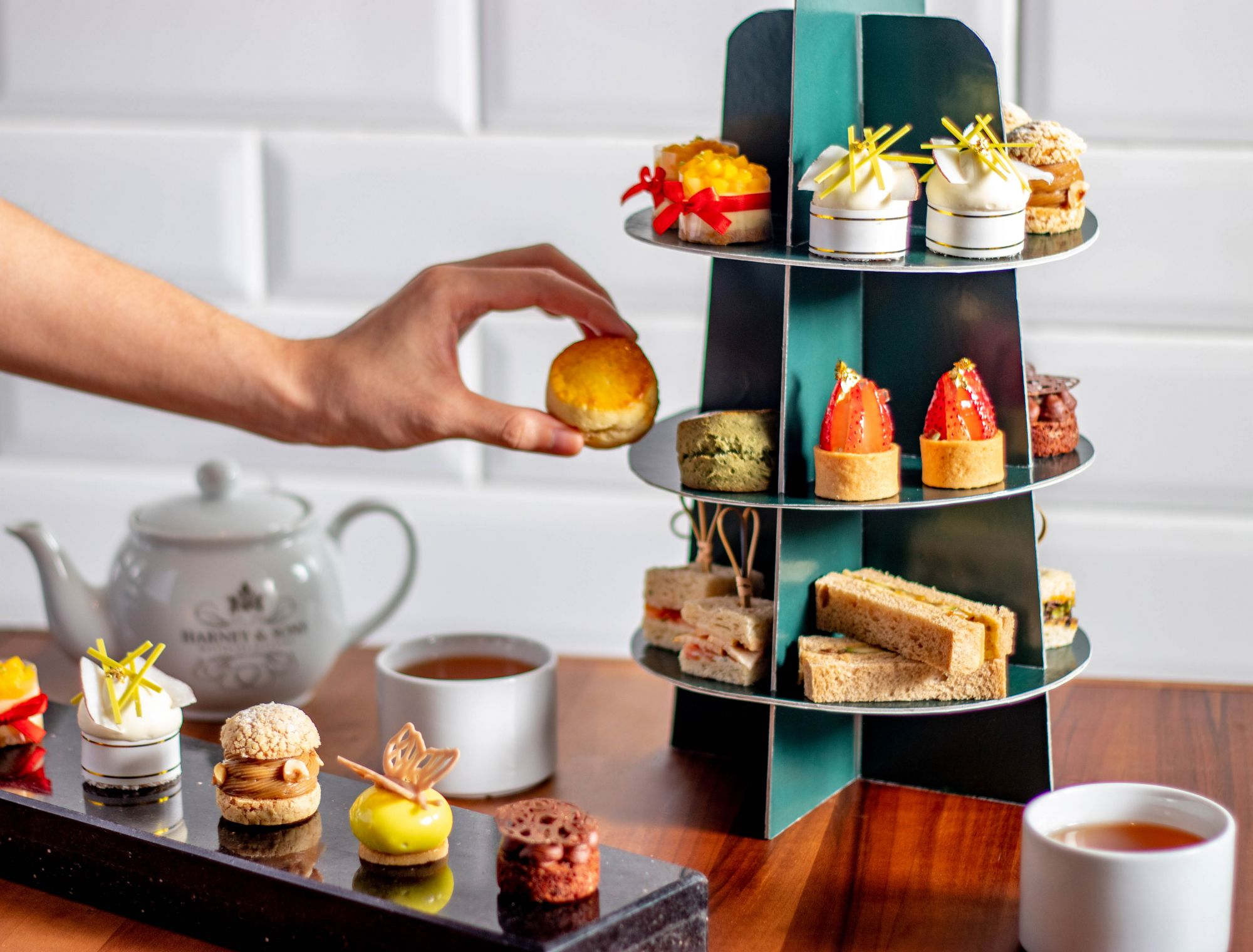 Altitude's Afternoon Tea Box contains sandwiches, pastries and other such treats