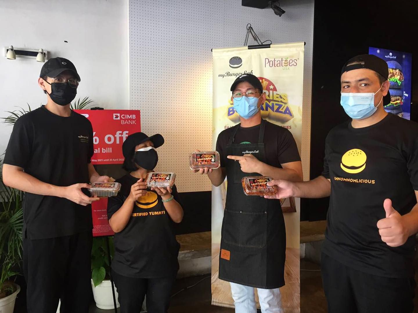 The team behind MyBurgerlab has been working tirelessly from through the first MCO to now