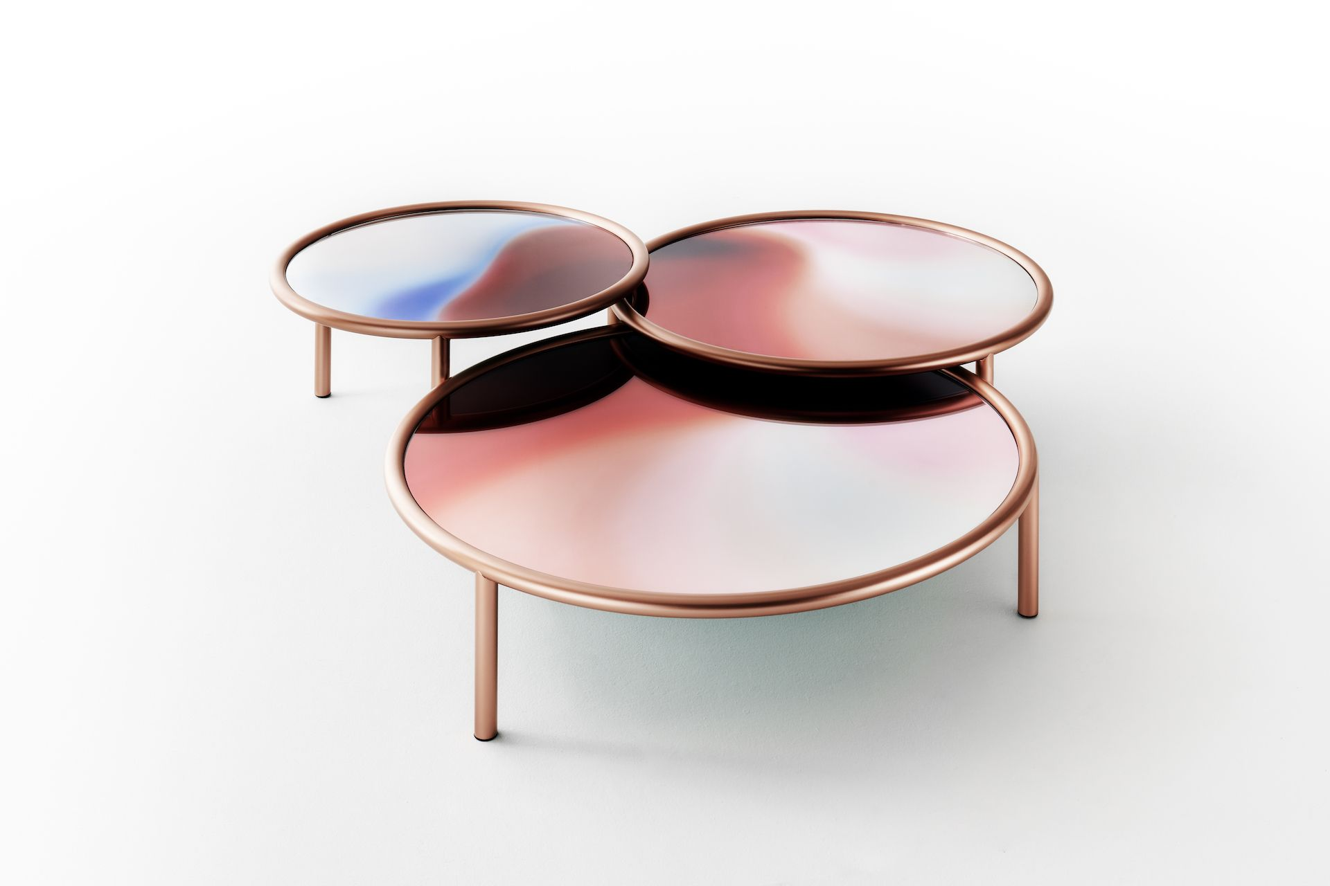 GlasItalia LA Sunset coffee tables by Patricia Urquiola from Space Furniture