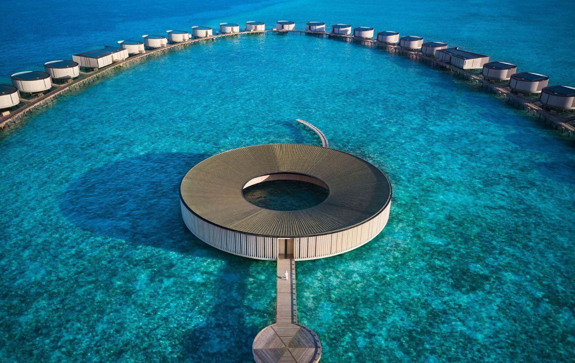 Over-the-water villas at The Ritz-Carlton Maldives Fari Islands