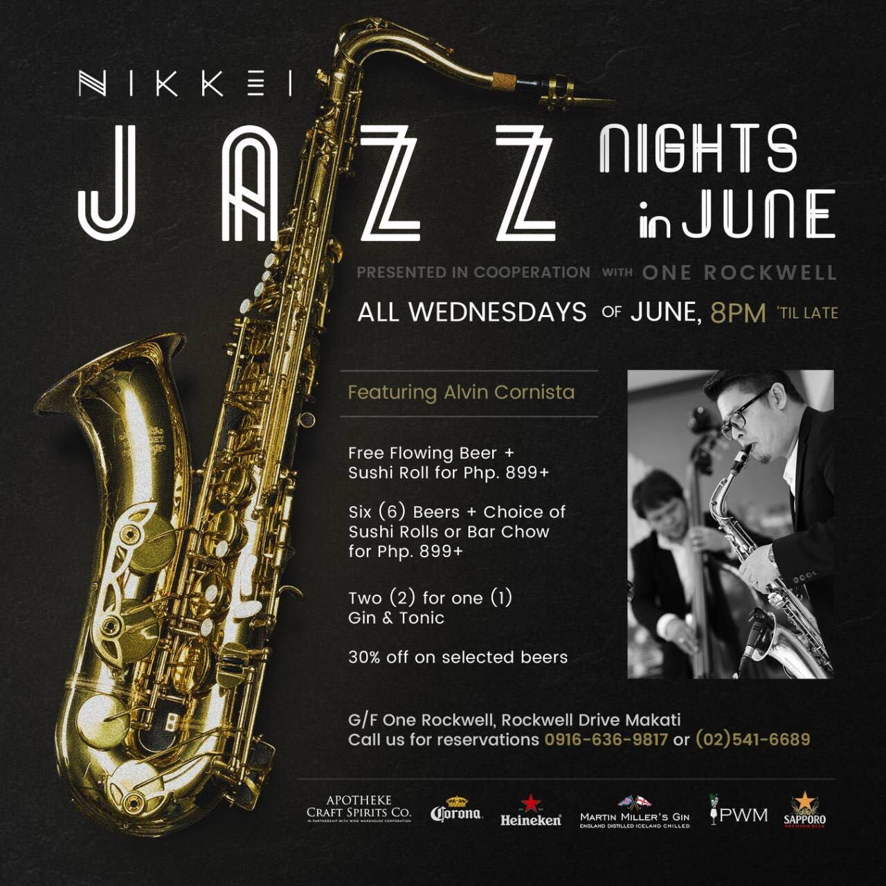 One Rock Wednesdays Lets Live Jazz And Booze Flow All Through June At Nikkei
