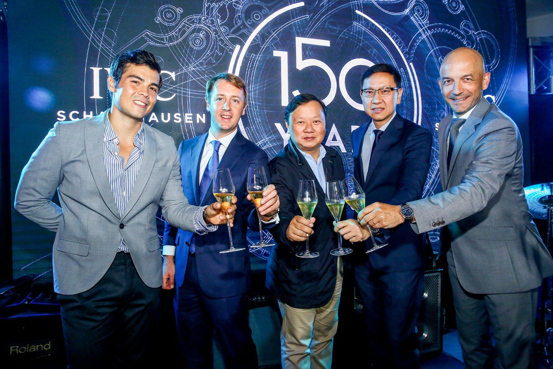 Erwan Heussaff, Stanislas Rambaud, Ivan and Emerson Yao, and Marc Michel-Amadry