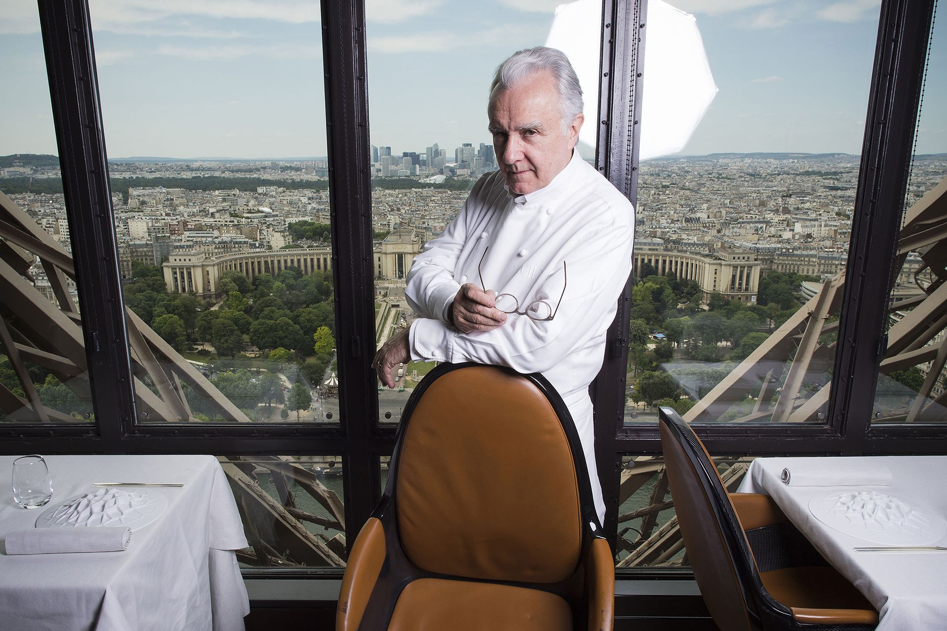 Ousted Eiffel Tower chef Ducasse sharpens knives for rivals