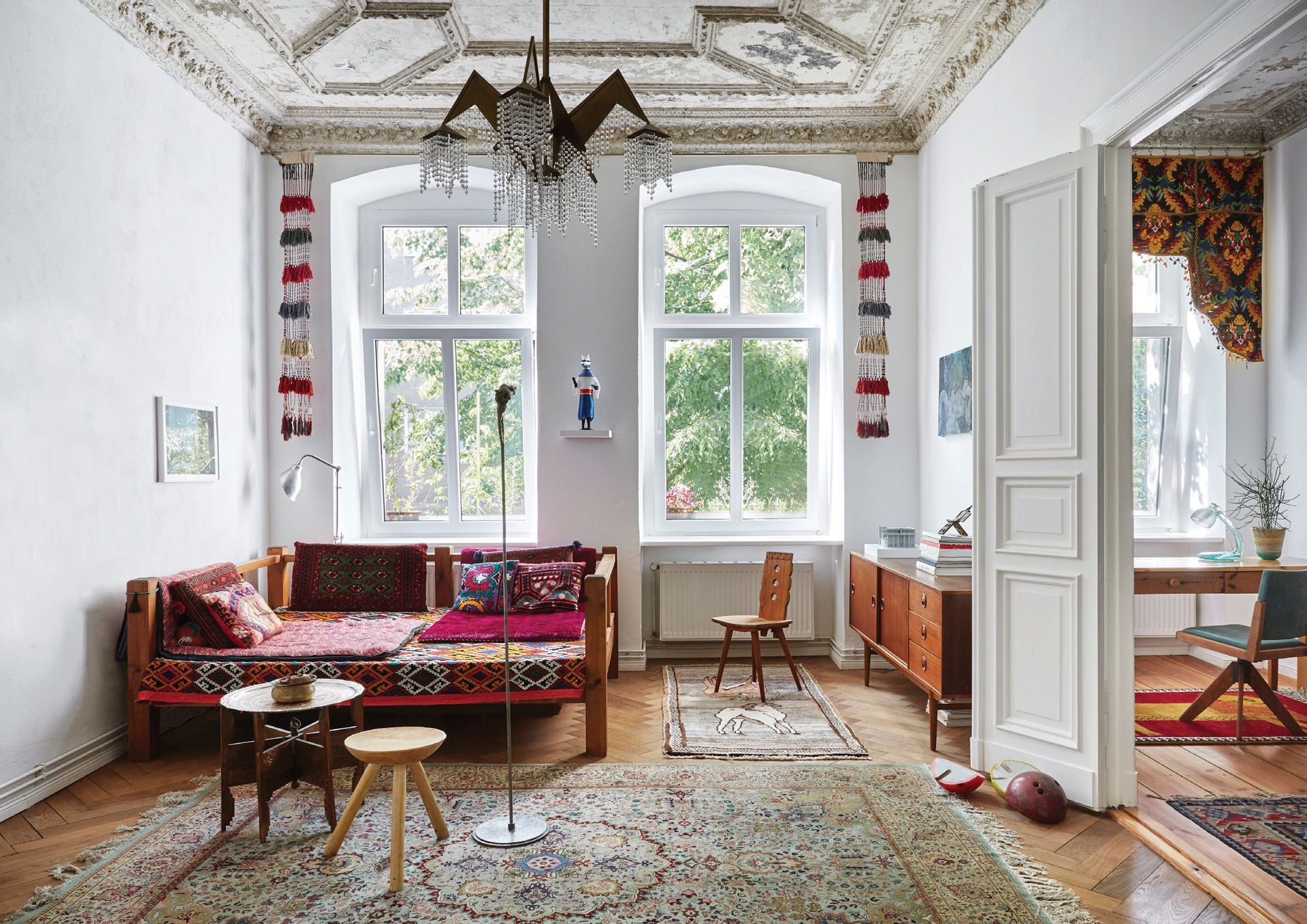 Home Tour: Eclectic Folklore Accents Bring This Industrial-Era House In Berlin To Life