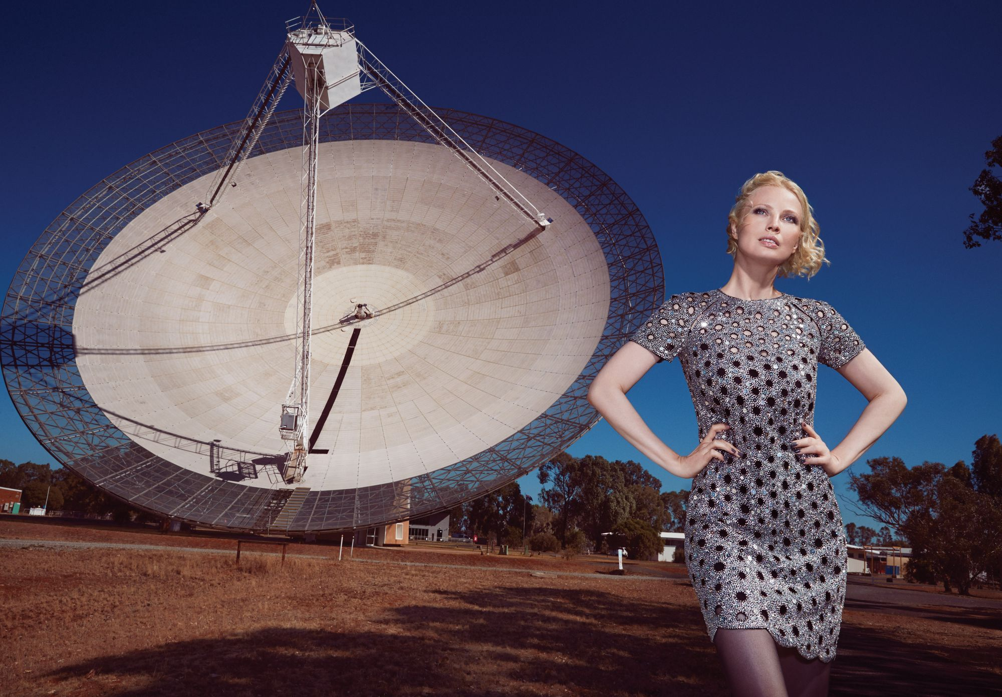 Julia Milner Visits The Parkes Observatory — Chanel Boots In Tow