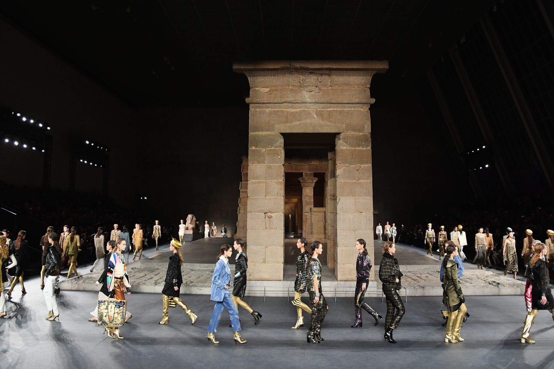 Chanel Dazzles With Egyptian-Themed Métiers d'Art show