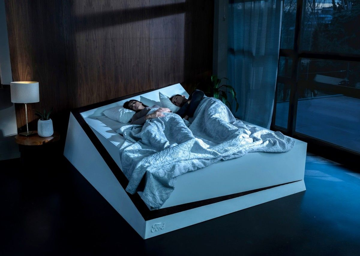 Ford Unveils Conveyer Belt Bed That Keeps Selfish Sleepers On Their Side