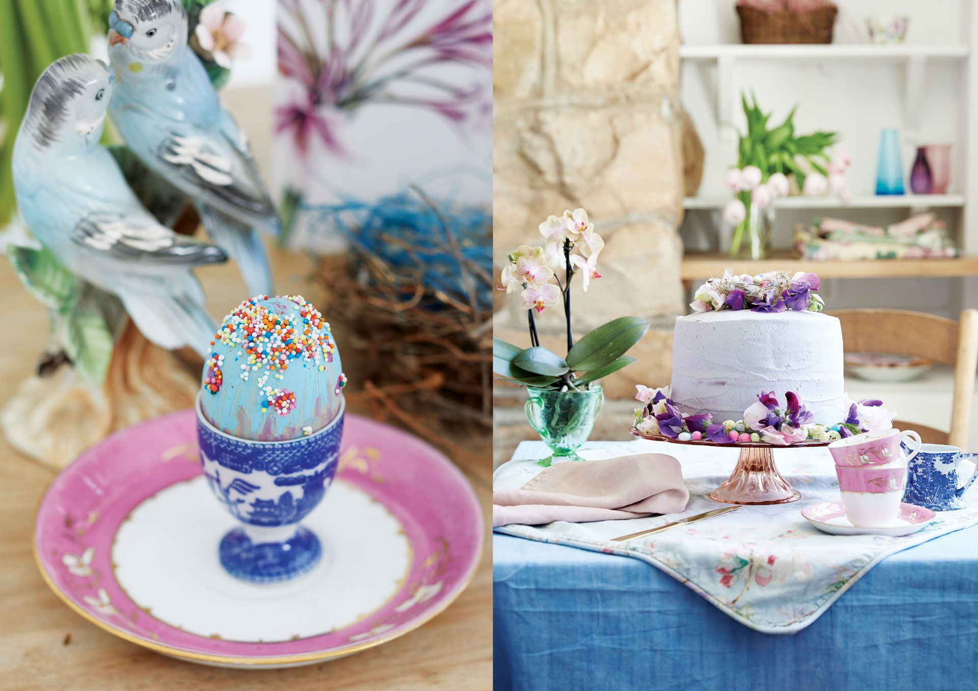Evoking Easter: Tablescapes Inspired By Nature's Bounty And A Nostalgic Return Of Floral Prints