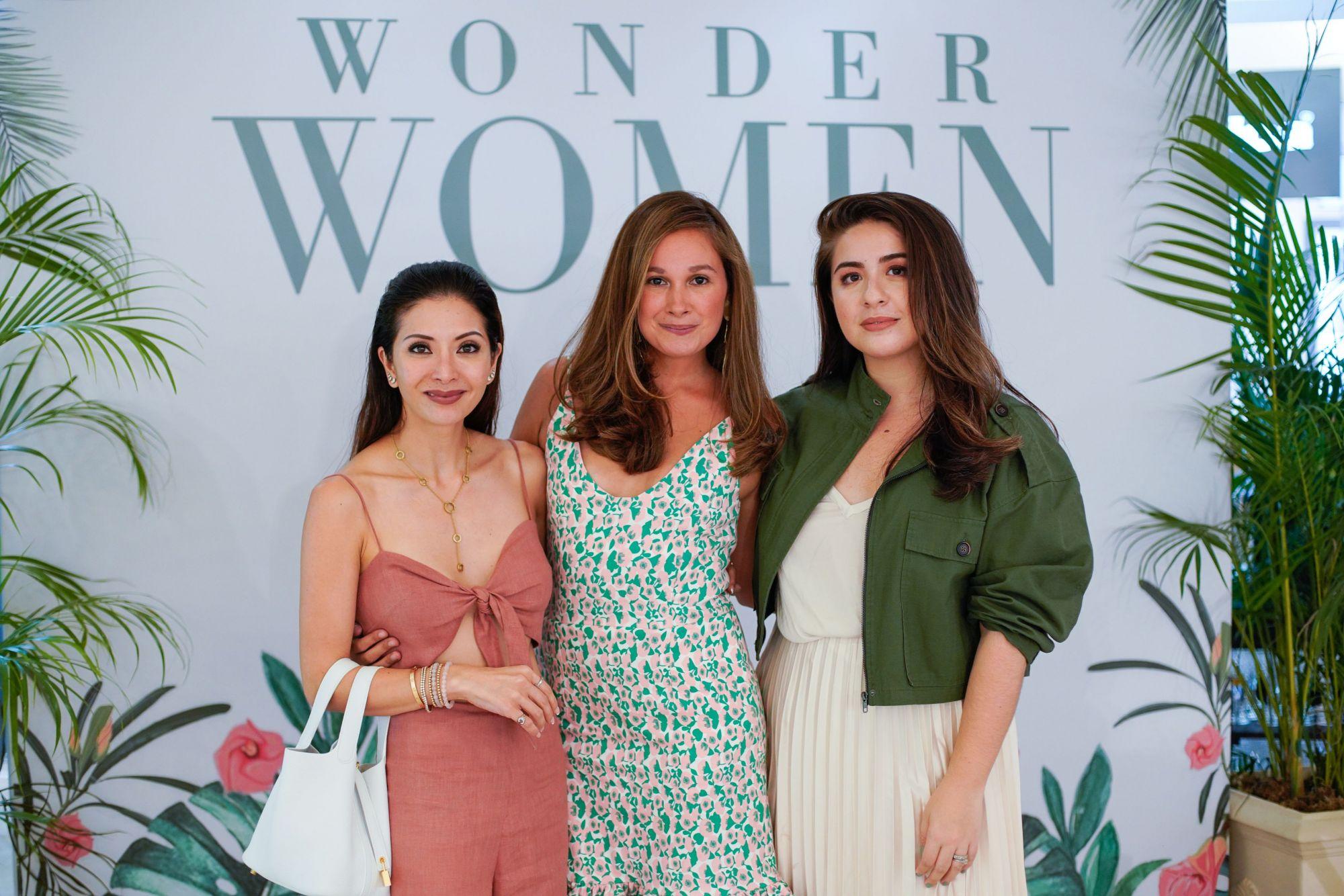 The three Wonder Women - Cat Arambulo-Antonio, Georgia Schulze-del Rosario & Vania Romoff