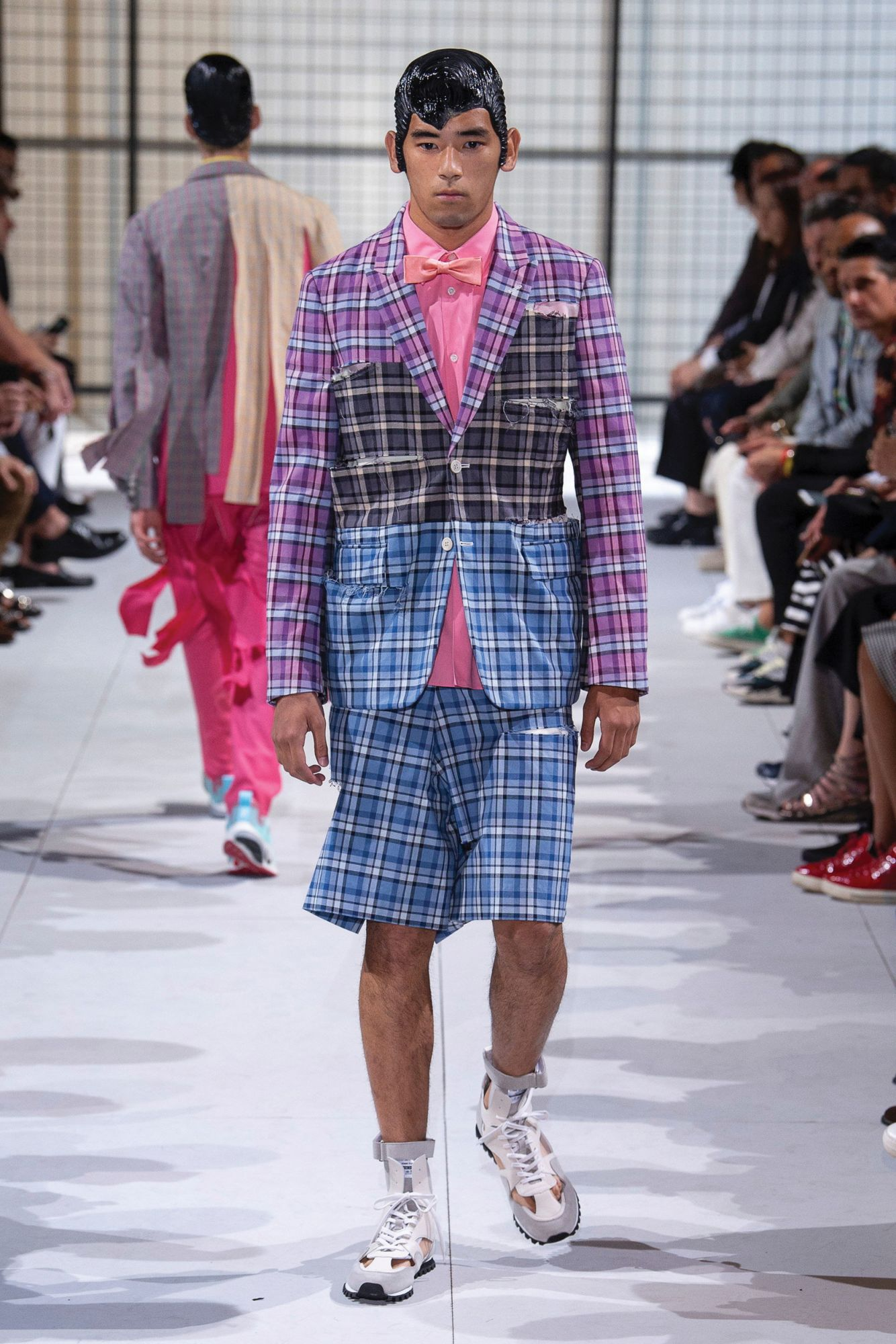 COMMES DES GARÇONS | Plaid blazer and matching shorts