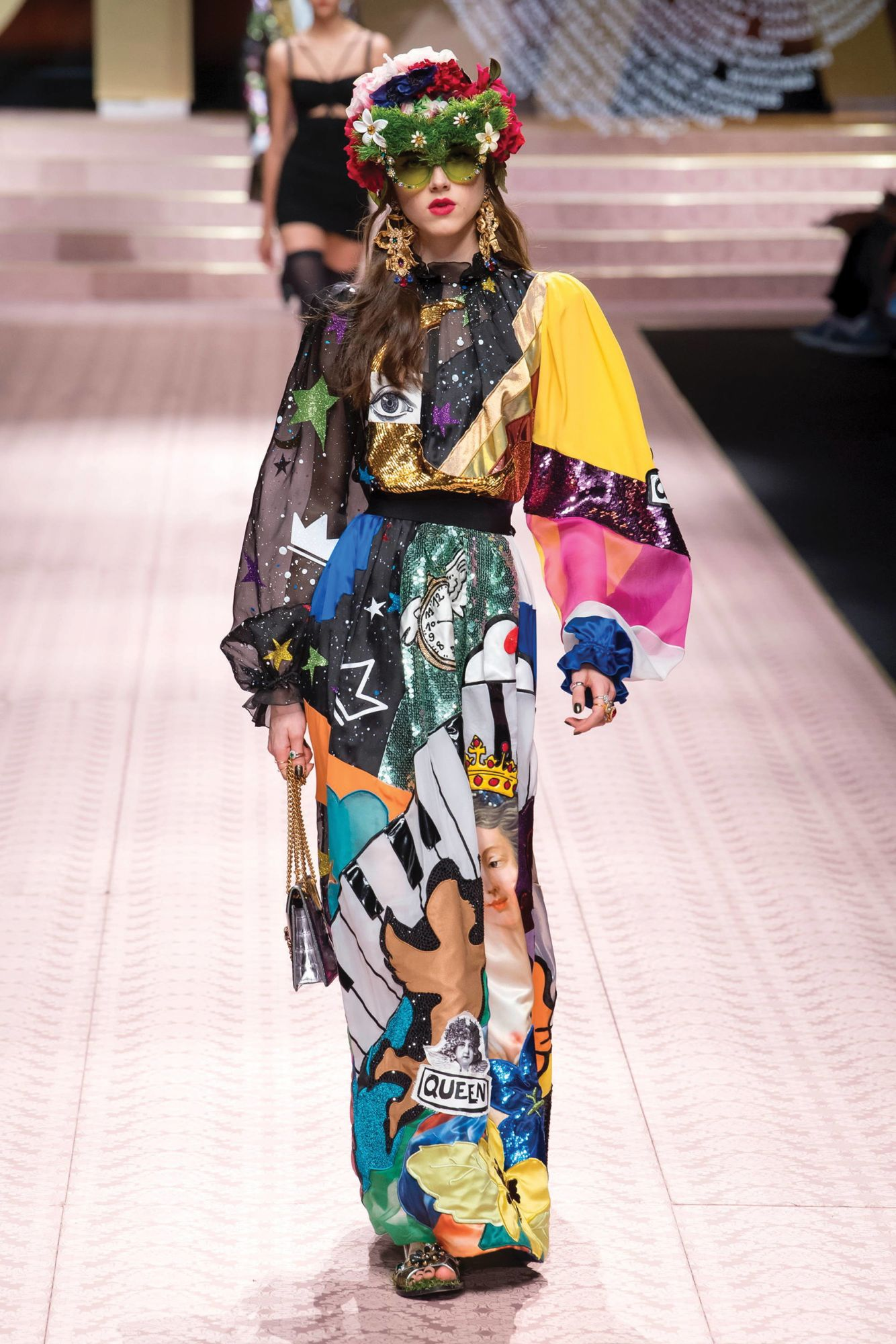 DOLCE & GABBANA | Graphic print dress from the spring/summer 2019 runway