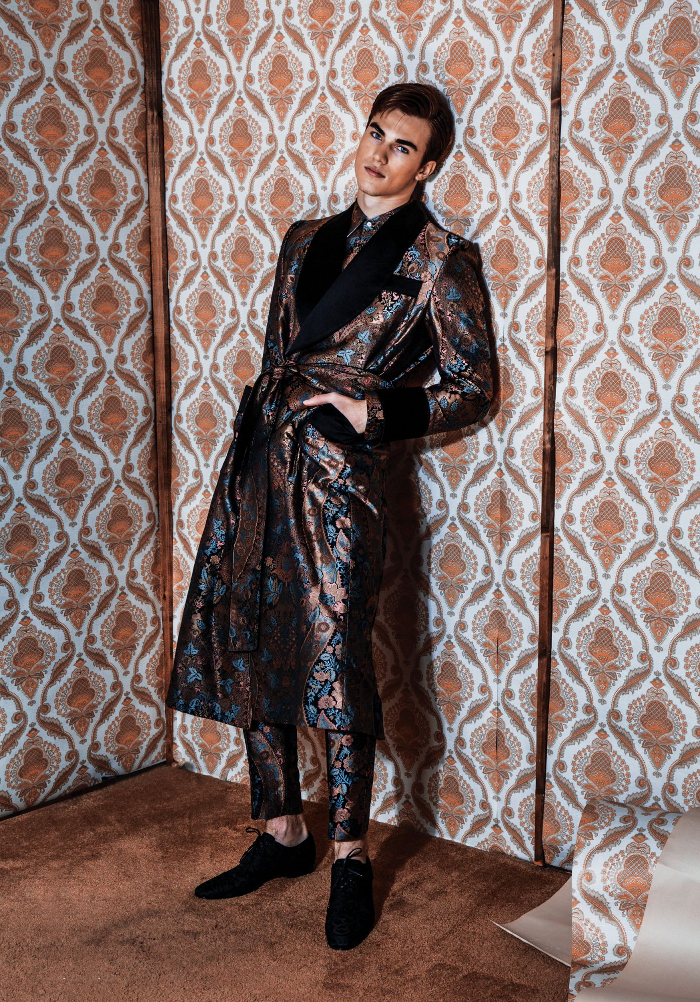 Floral trenchcoat and pants by Dolce & Gabbana