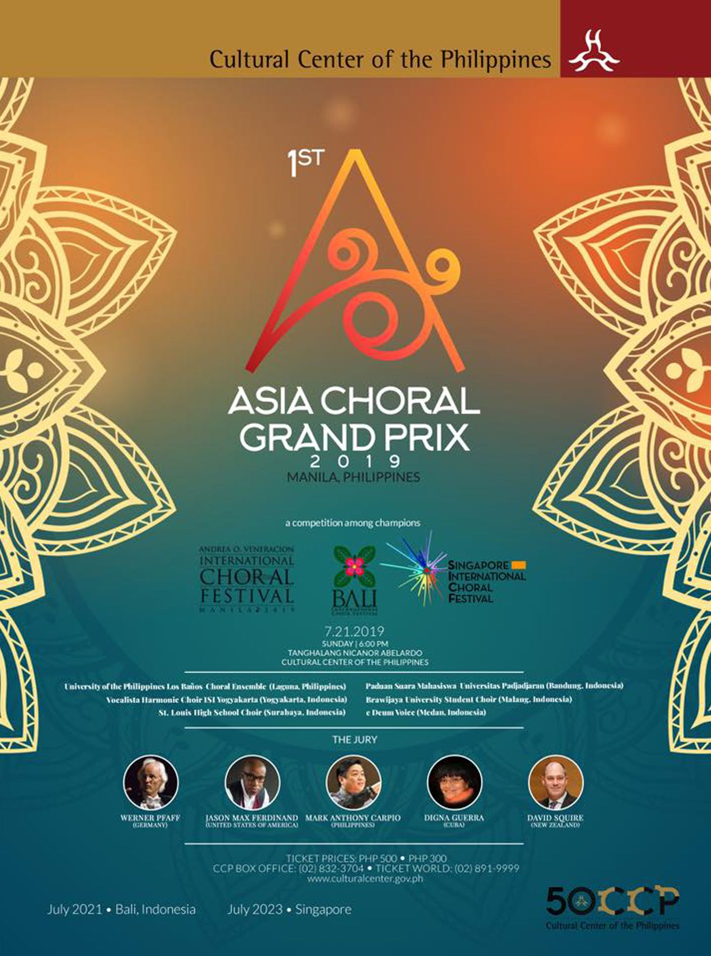 1st Asia Choral Grand Prix Is Finally Happening This July 2019