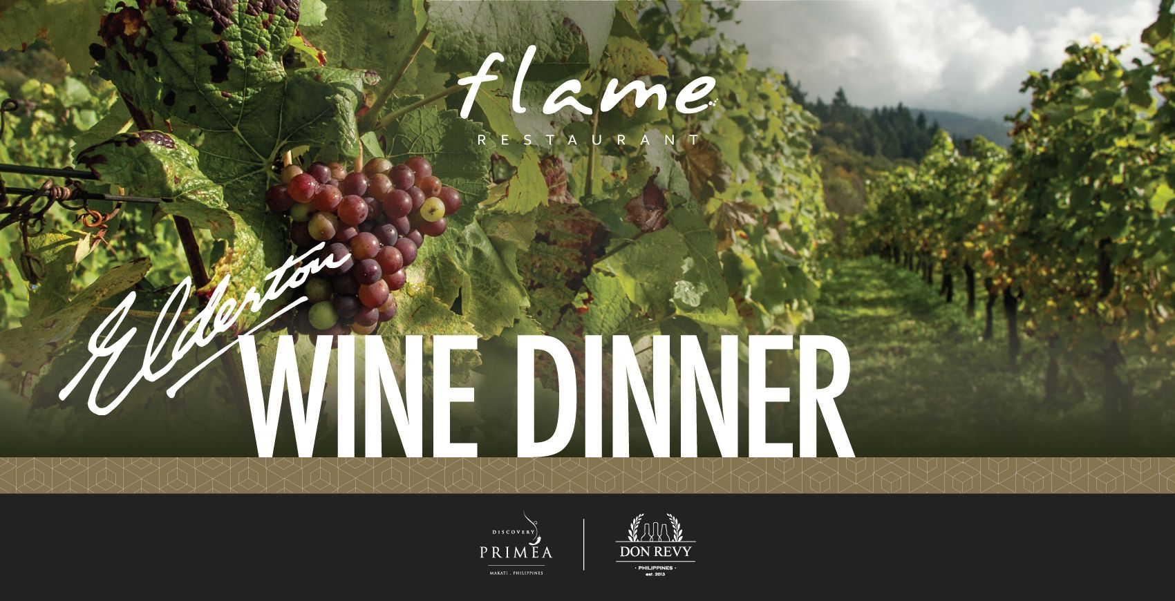 Elderton Wine Dinner at Flame