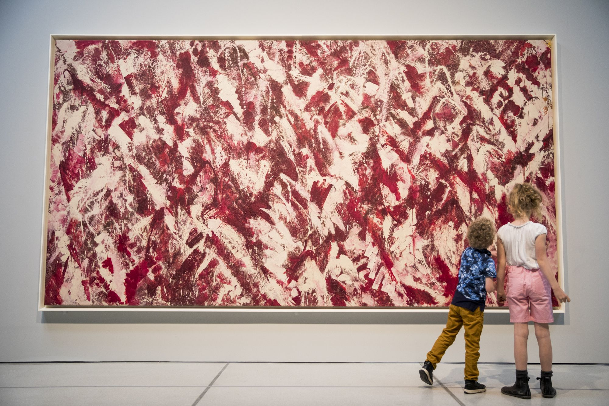 LONDON, ENGLAND - MAY 29:  Lee Krasner: Living Colour exhibition at Barbican Art Gallery on May 29, 2019 in London, England.  The exhibition is on view 30 May - 1 September 2019. (Photo by Tristan Fewings/Getty Images for Barbican Art Gallery)