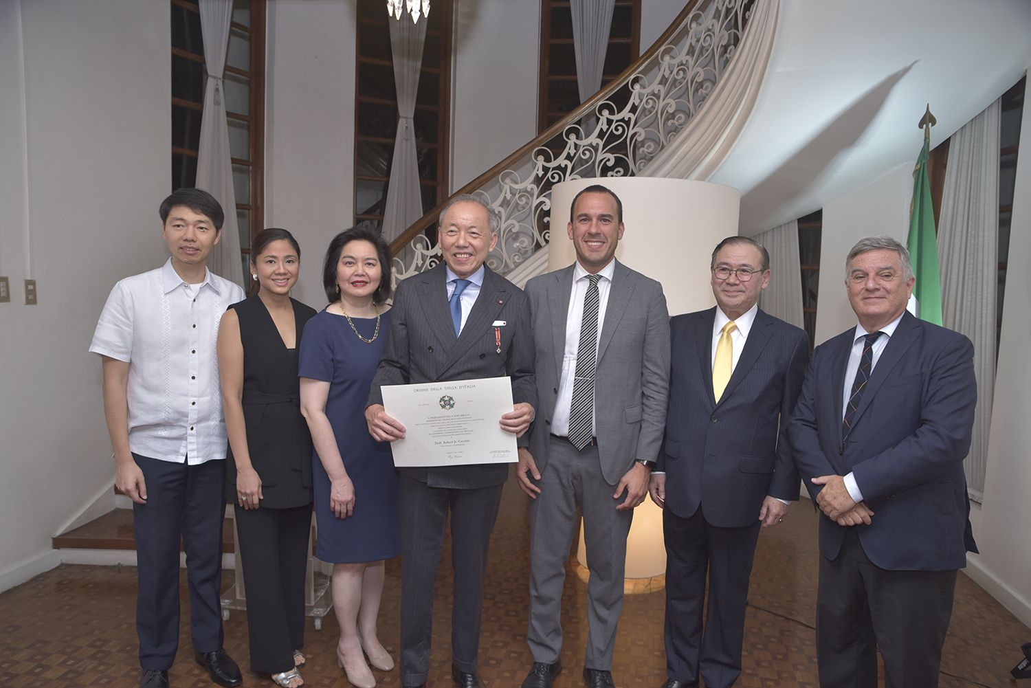 Robert Coyiuto Jr receives Order of the Star from the Italian Government