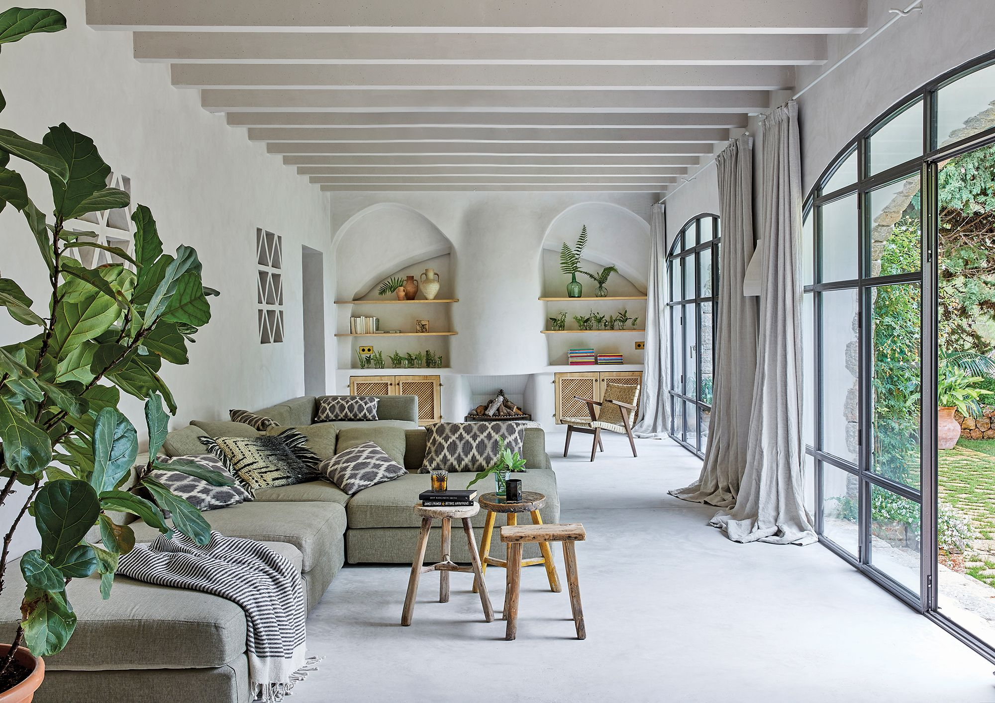 Home Tour: This Idyllic Holiday Home In Mallorca Pairs Modern Minimalism With Rustic Charm