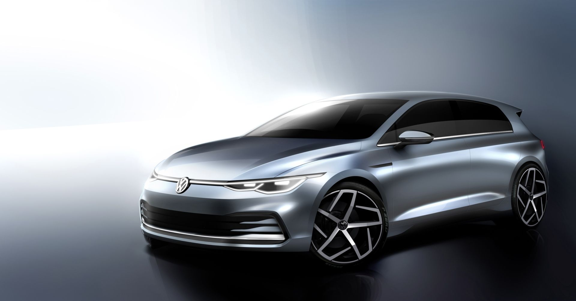 A rendering of the forthcoming 2020 Volkswagen Golf ©Courtesy of Volkswagen