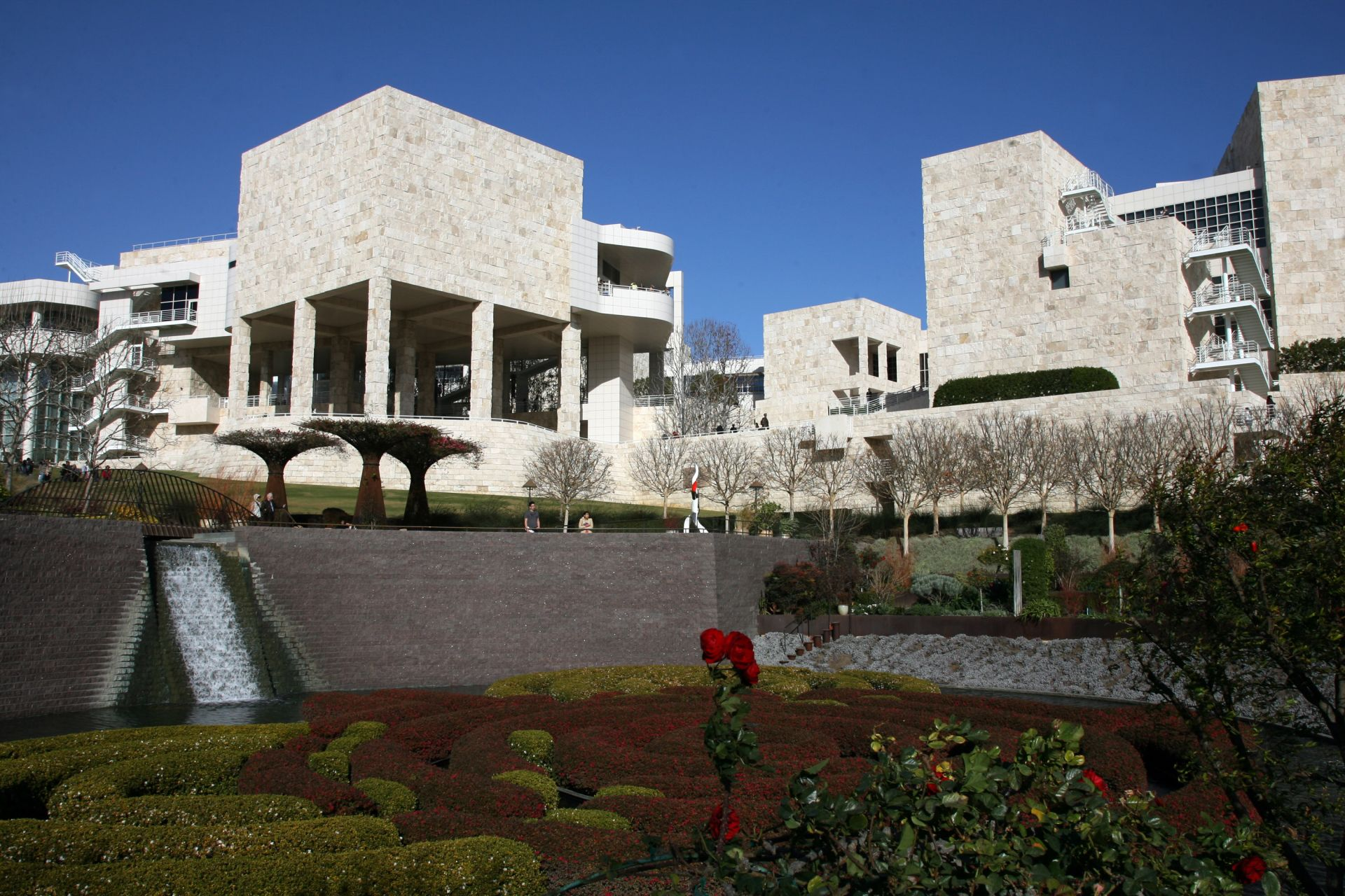 View of the Getty Center in Los Angeles, 05 January 2007. AFP PHOTO/GABRIEL BOUYS