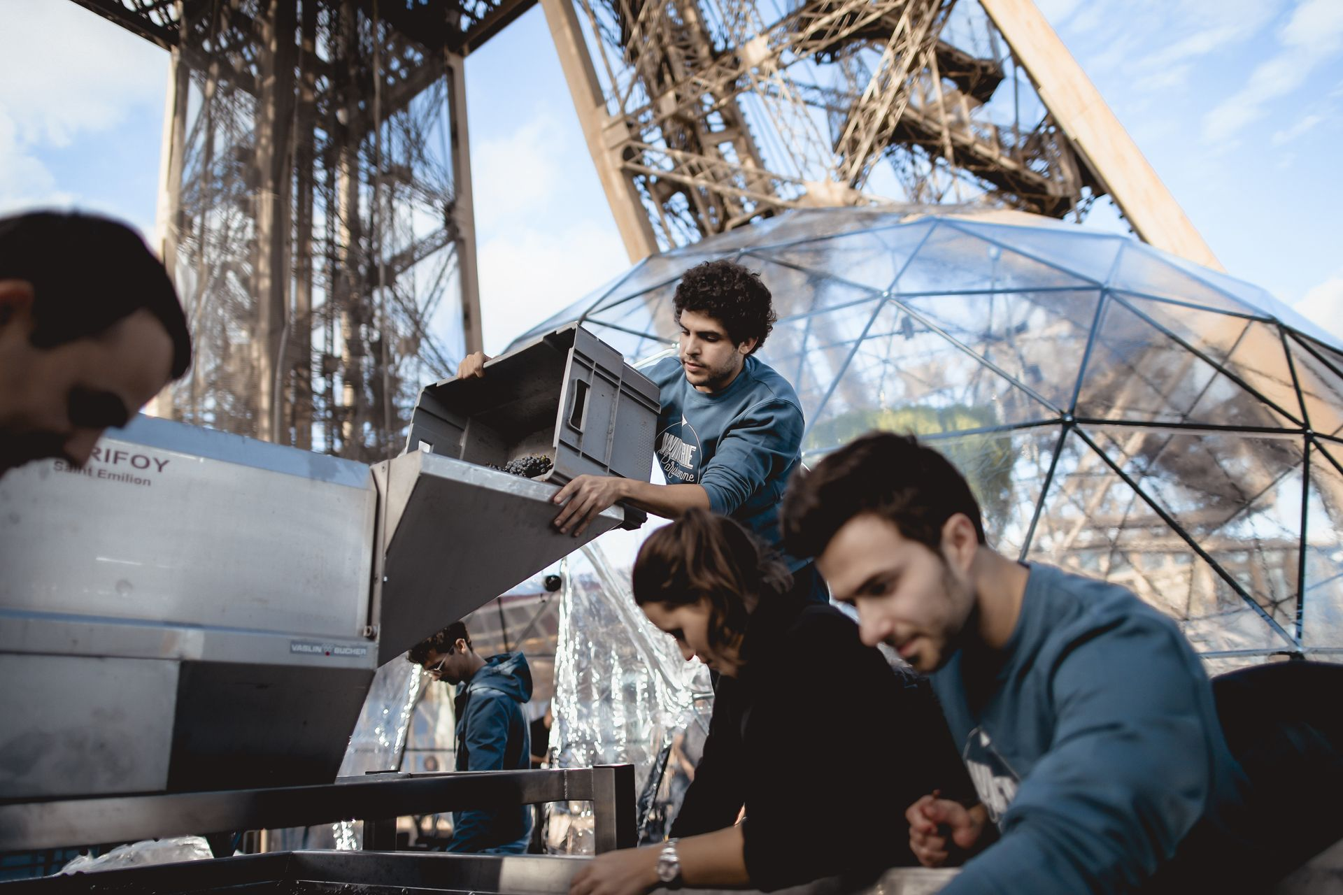 How The Eiffel Tower Has Been Turned Into A Temporary Winery