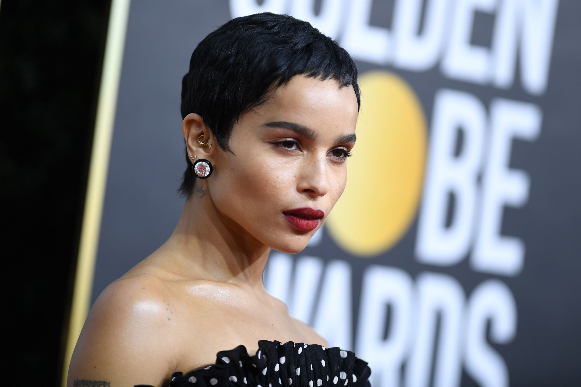 US actress Zoe Kravitz arrives for the 77th annual Golden Globe Awards on January 5, 2020, at The Beverly Hilton hotel in Beverly Hills, California. (Photo by VALERIE MACON / AFP)