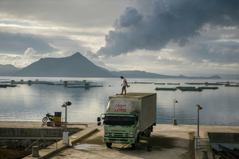 The Taal volcano burst into life nearly a week ago  © Ed JONES - AFP