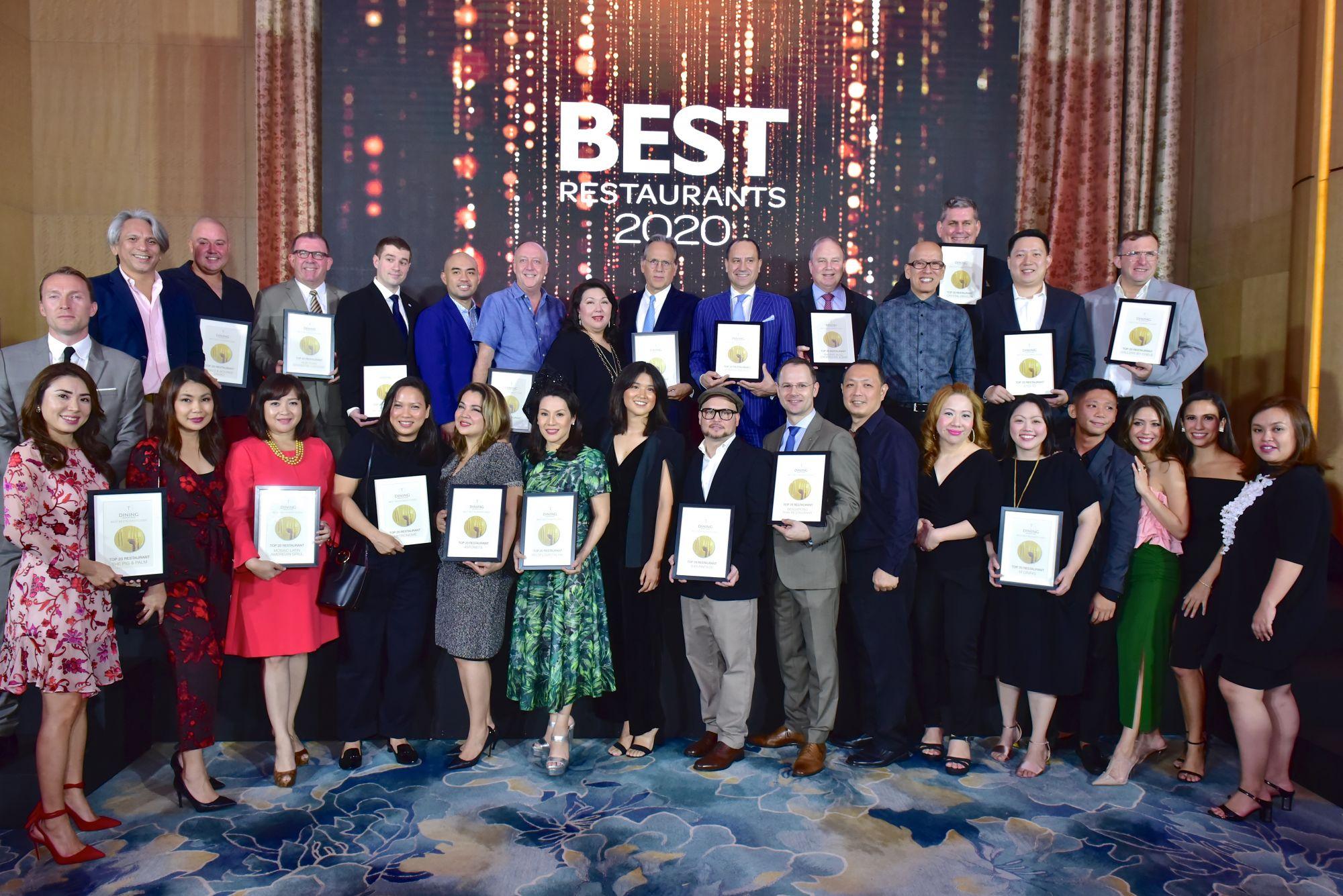 T.Dining's Best Restaurants Guide (BRG) 2020 Awards Night