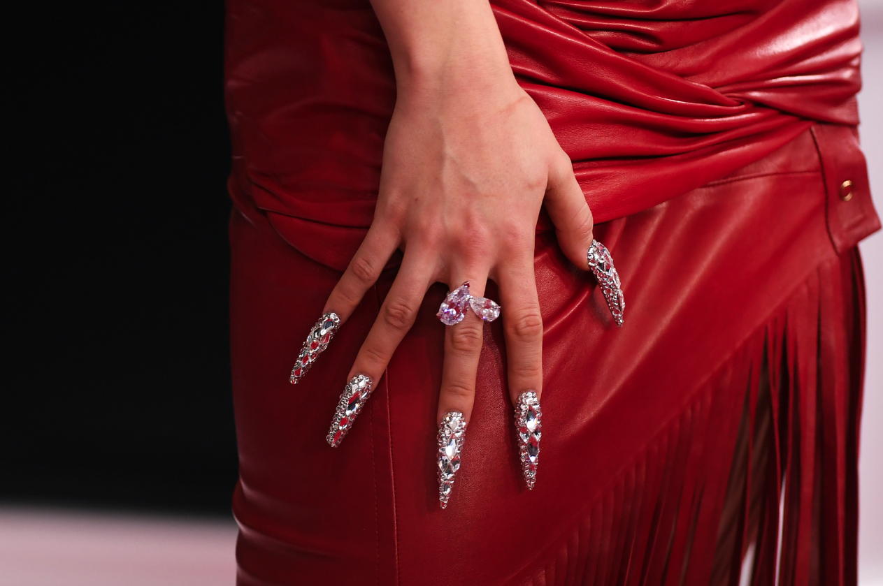 Celebrities Are Rocking Statement Nails At The Biggest Red Carpet Events Of 2020
