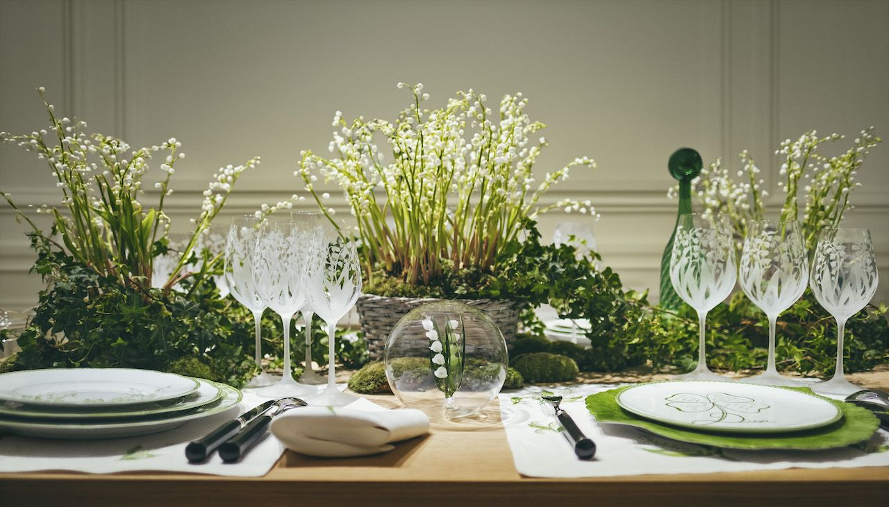 Tablescape Inspirations: Dior Maison Launches Ceramics Inspired By Lily Of The Valley