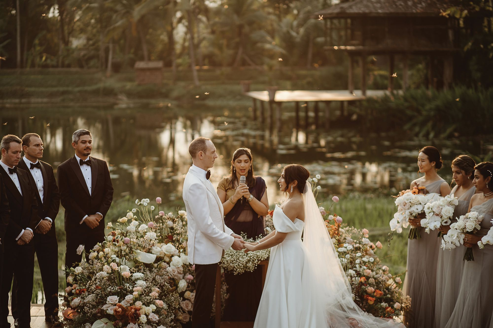 Wedded Bliss: Aaron Davis And Rina Hiranand Tie The Knot In Chiang Mai, Thailand