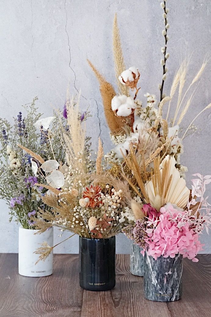 Brand place in dried flowers Lot of 3