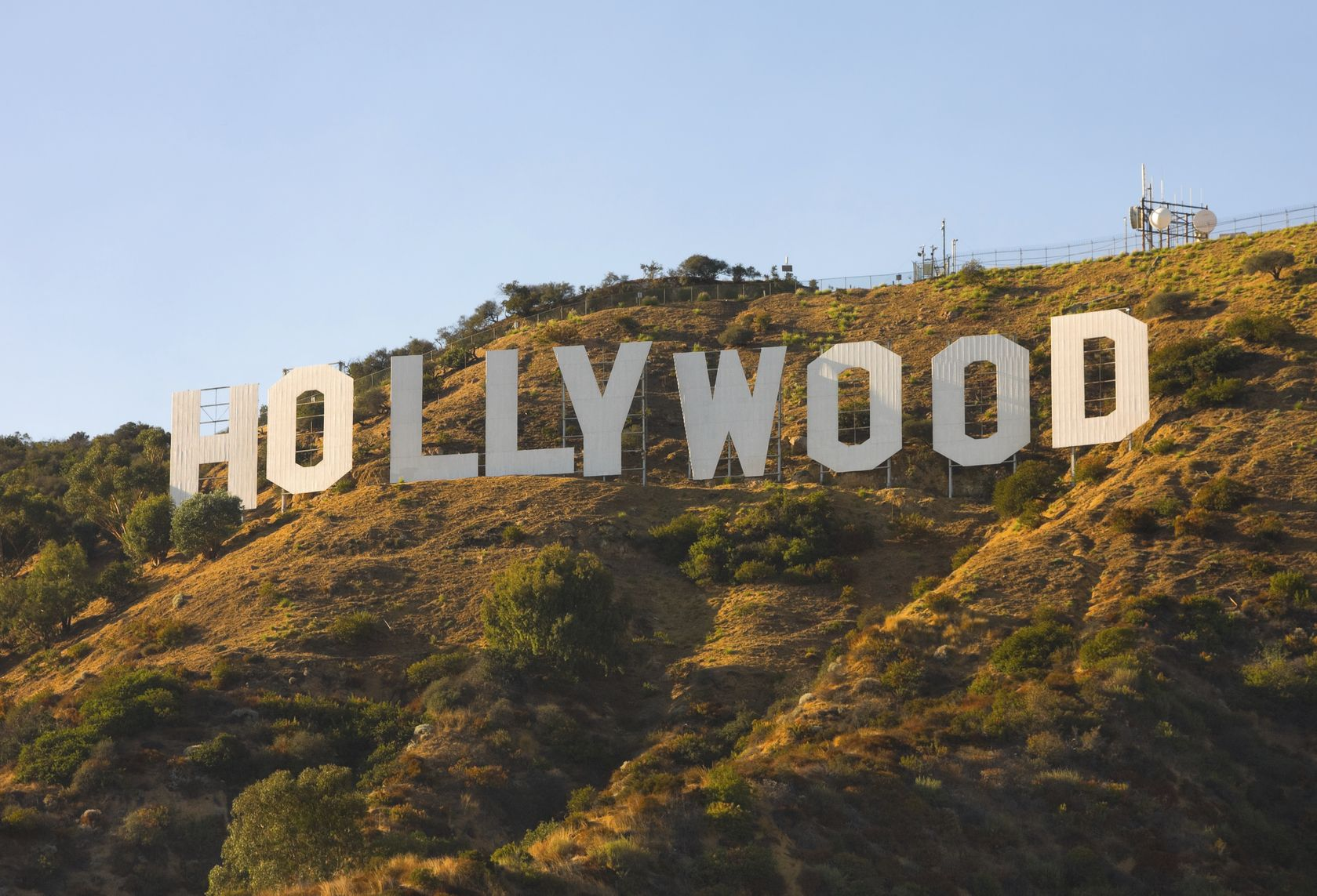 """""""Hollywood, California, USA - September 6, 2011: The world famous landmark Hollywood Sign. It was created as an advertisement in 1923."""""""
