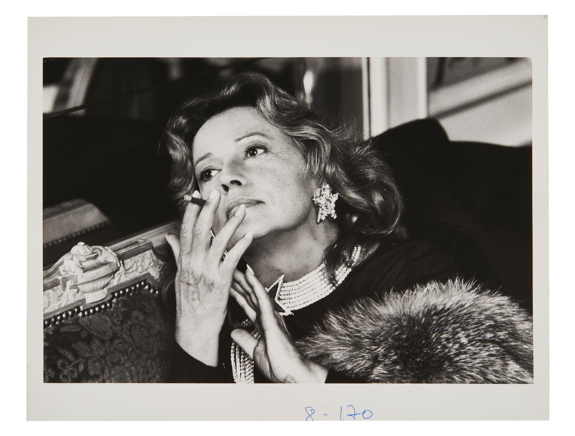 Helmut NEWTON. Jeanne Moreau, c. 1980. Two annotated prints. Estimate: €1000 - 1500 © Artcurial