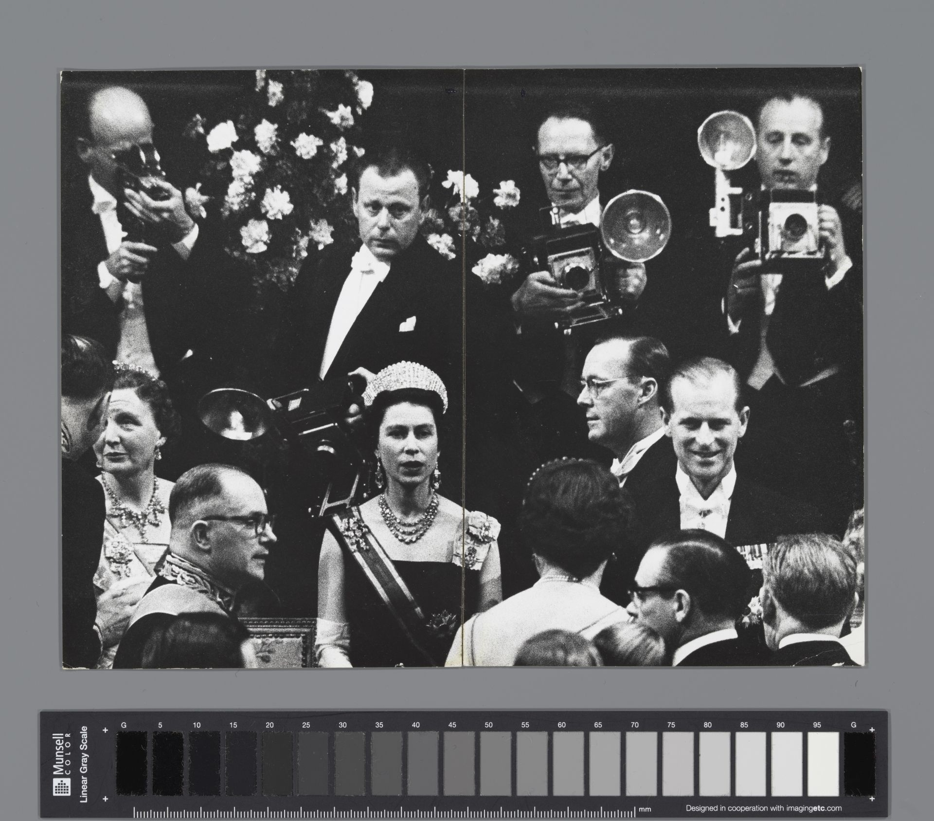 """Ed van der Elsken's 'State visit of the British Queen Elizabeth and her husband, Prince Philip, to the Netherlands, Ridderzaal, The Hague 26 March 1958'  © Image Courtesy of theRijksmuseum and the Nederlands Fotomuseum  For stories related to the photo book """"feest"""" by Ed van der Elsken (2020)"""