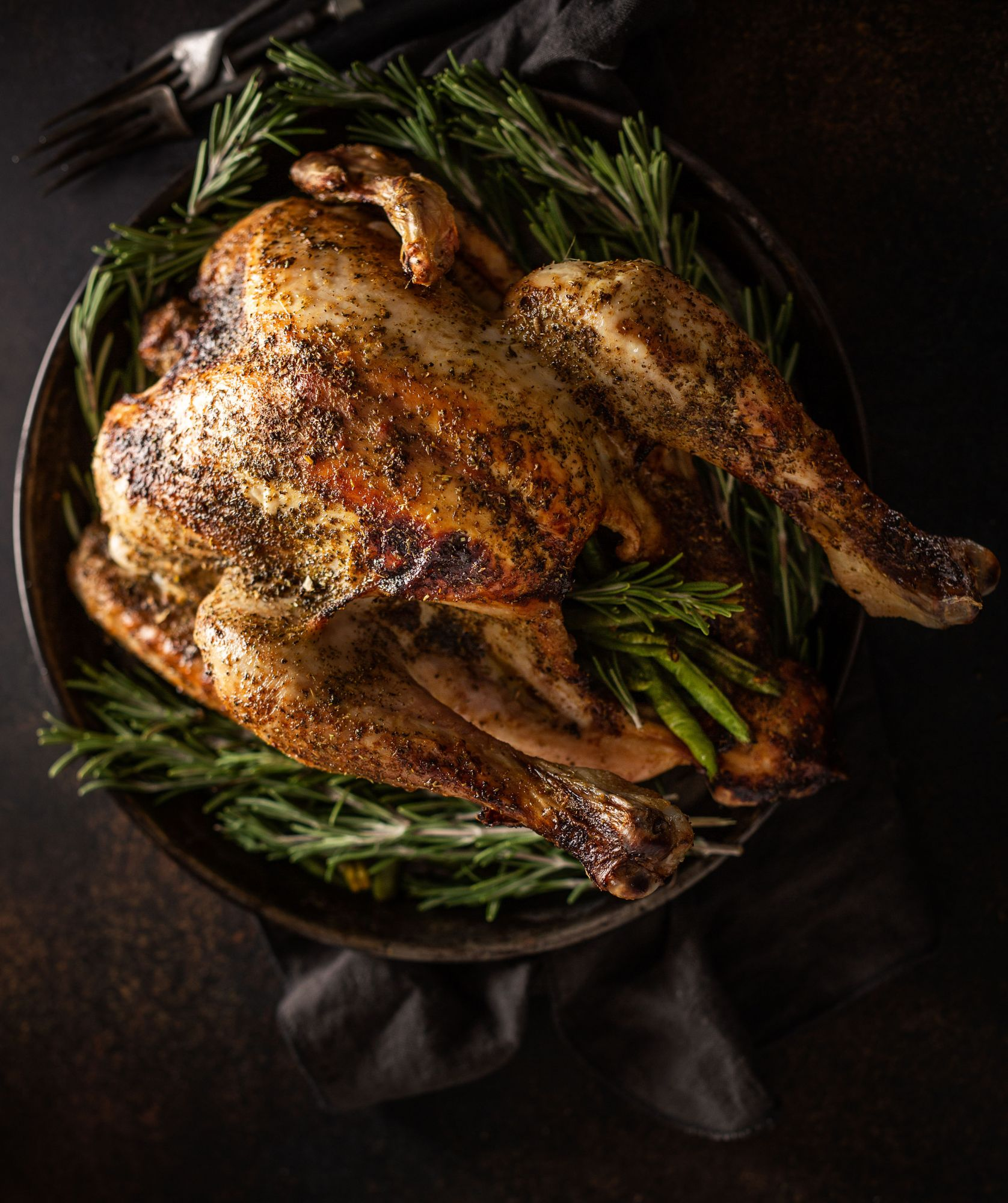 Christmas or Thanksgiving Day Turkey with Rosemary