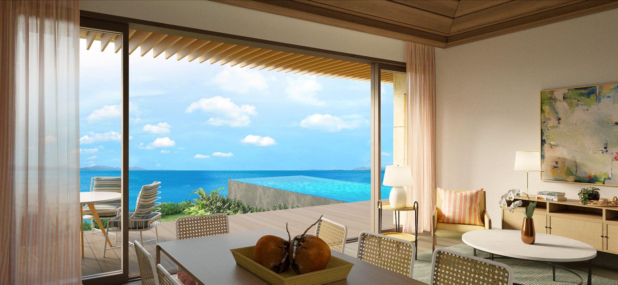 Photo: Living room view of villa at Aruga Mactan