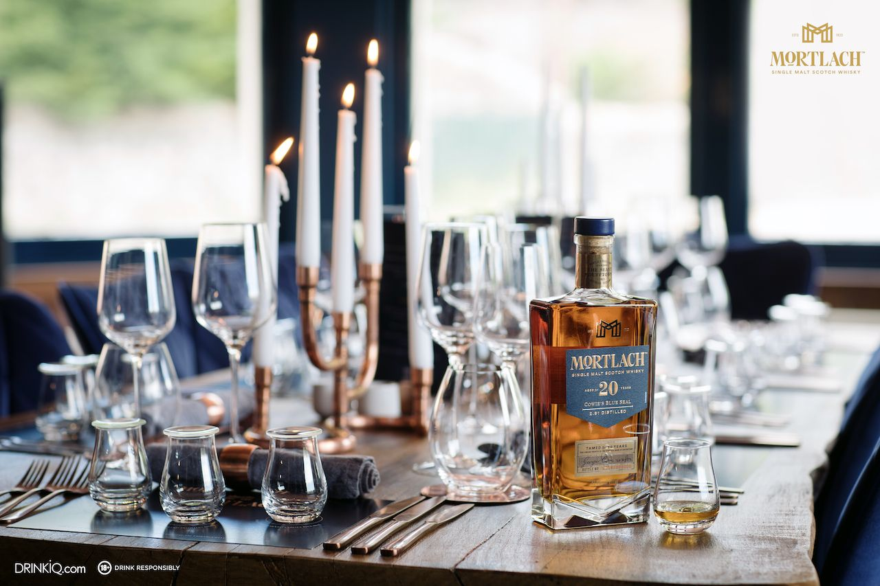 DUFFTOWN, SCOTLAND - JULY 3, 2018;  Product shot at the Mortlach Distillery to celebrate the release of three new liquids at the Mortlach Distillery on July 03, 2018 in Dufftown, Scotland.