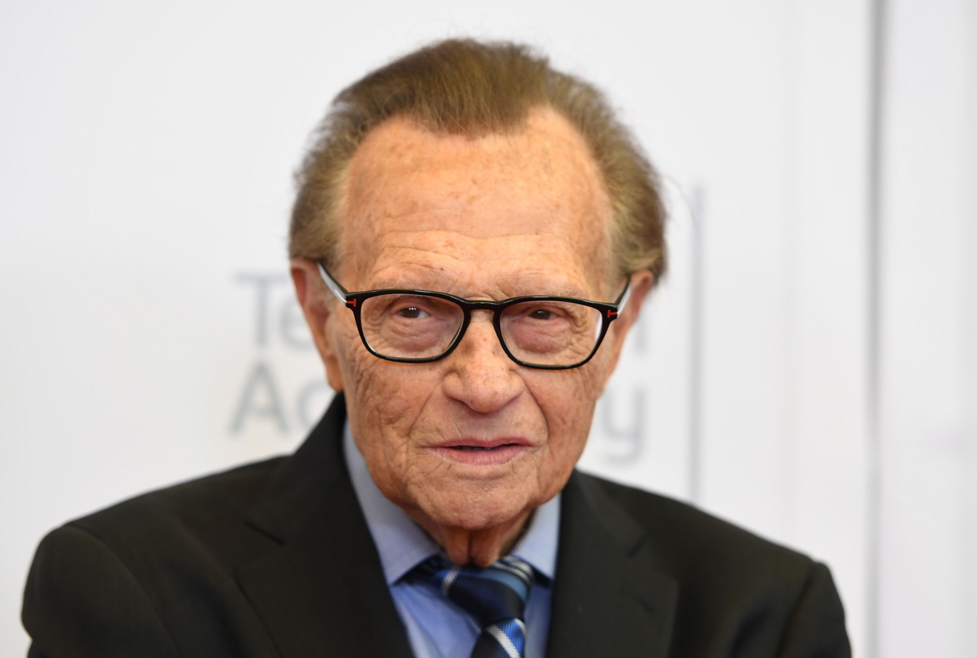 Television Host Larry King arrives on the red carpet for the 68th Los Angeles Emmy Awards featuring Niecy Nash, Jason George, Mary Holland, Florence Henderson and Larry King in North Hollywood, California, on July 23, 2016. -  (Photo by Angela WEISS / AFP)