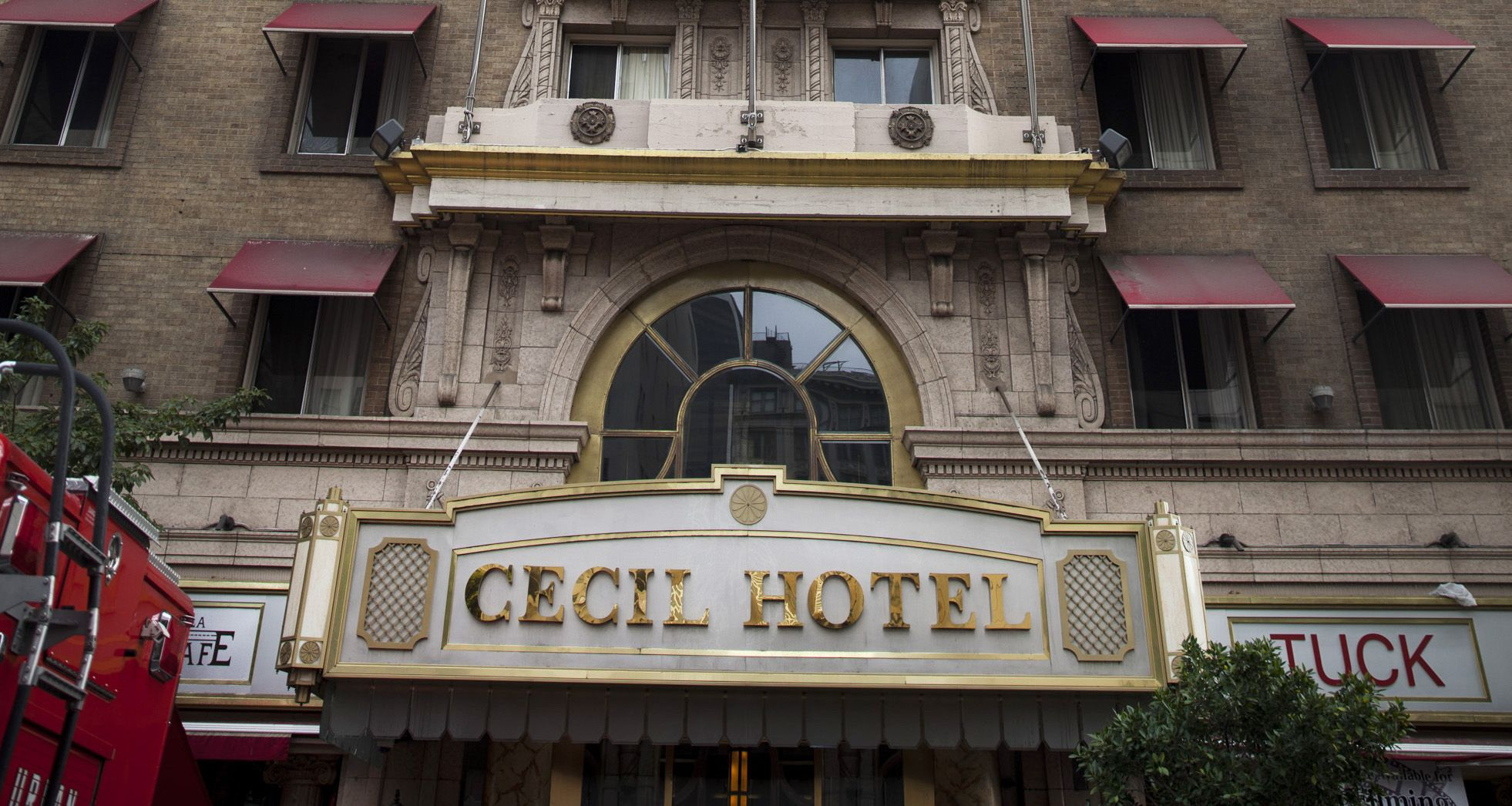 LOS ANGELES, CA -- FEBRUARY 19, 2013-- The Cecil Hotel on Main Street, in downtown Los Angeles, following the discovery of a body in the hotel's water tank, which authorities believe to be that of missing Canadian tourist Elisa Lam, 21, Feb. 19, 2012. Lam was last seen three weeks ago at the Cecil Hotel. (Jay L. Clendenin / Los Angeles Times)