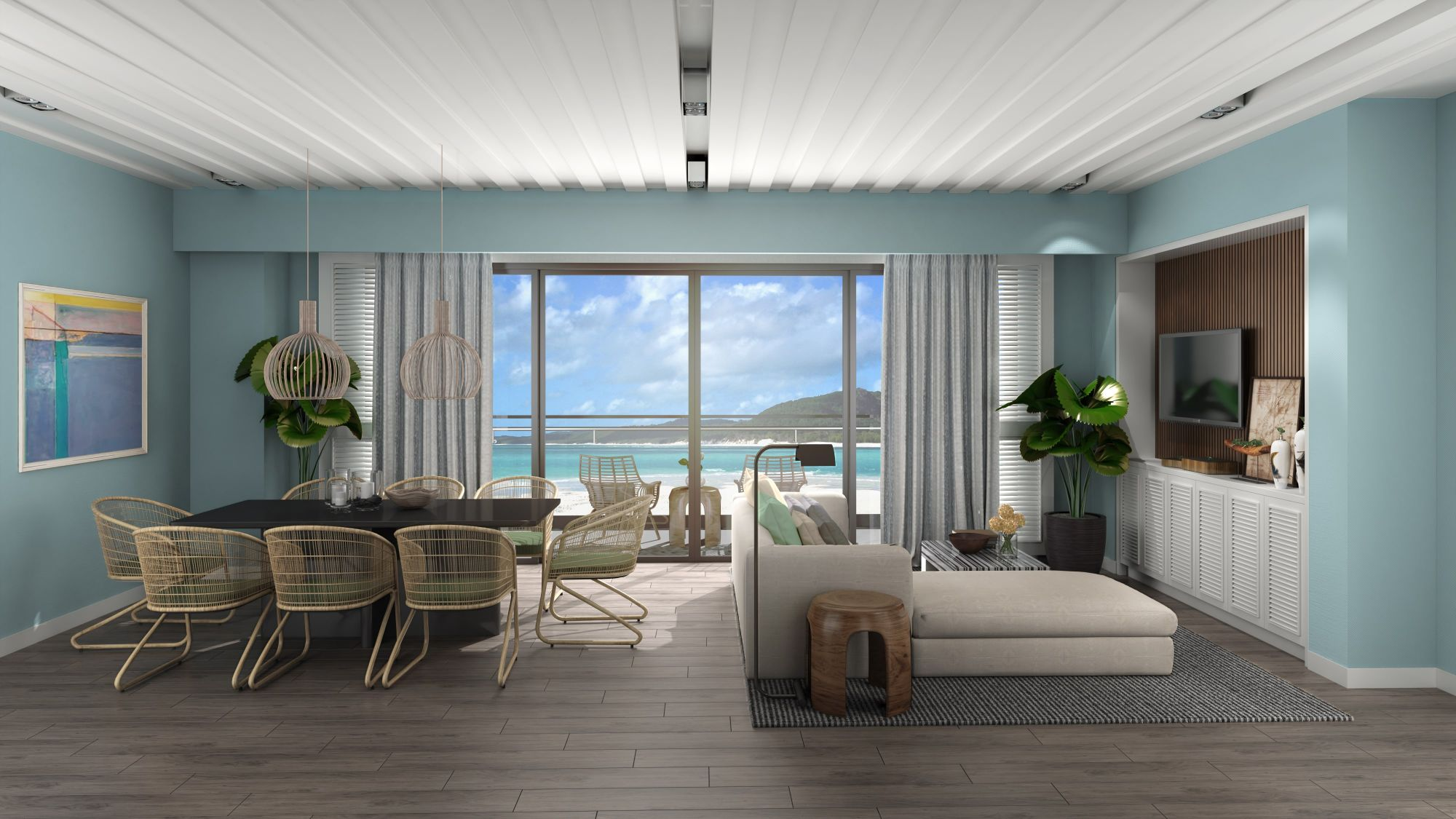 Serene views from your beachside home