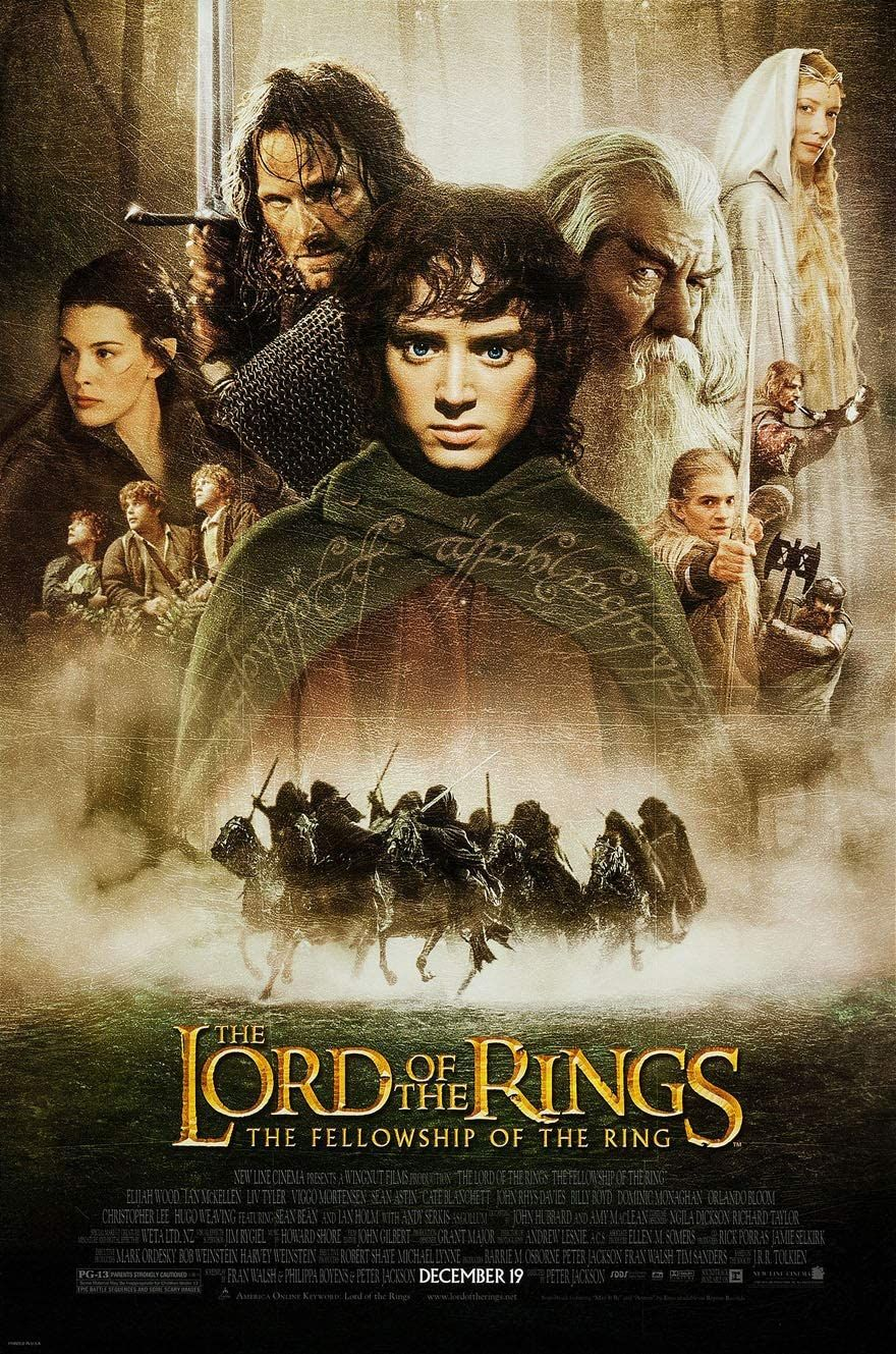 The Lord of the Rings: The Fellowship of the Ring movie poster | Photo: Amazon.com
