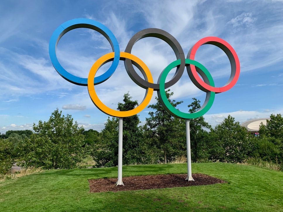 The Olympics logo (Photo by Kyle Dias on Unsplash)