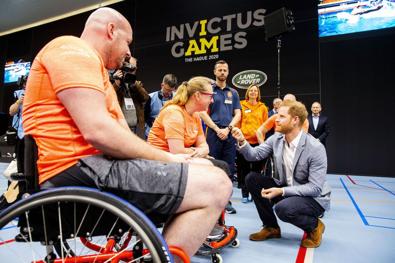 THE HAGUE, NETHERLANDS - MAY 09: Prince Harry, Duke of Sussex during the launch of the Invictus Games on May 9, 2019 in The Hague, Netherlands. (Photo by Patrick van Katwijk/Getty Images)