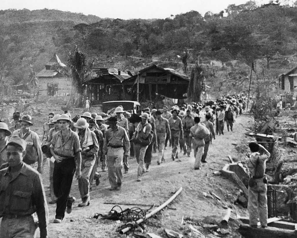 Filipino and American prisoners of war marched from Mariveles to San Fernando. This march was named the Bataan Death March because of the high number of brutal and gruesome deaths along the road at the hands of the Japanese.