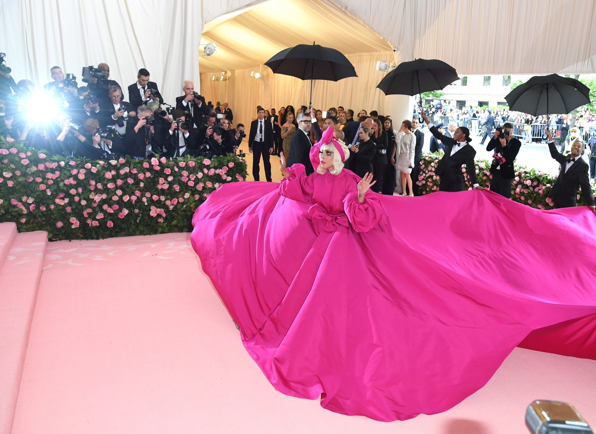 NEW YORK, NEW YORK - MAY 06: Lady Gaga arrives for the 2019 Met Gala celebrating Camp: Notes on Fashion at The Metropolitan Museum of Art on May 06, 2019 in New York City. (Photo by Karwai Tang/Getty Images)