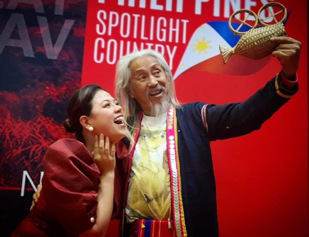 Film director Kidlat Tahimik with FDCP Chairperson Liza Bautista Diño Seguerra