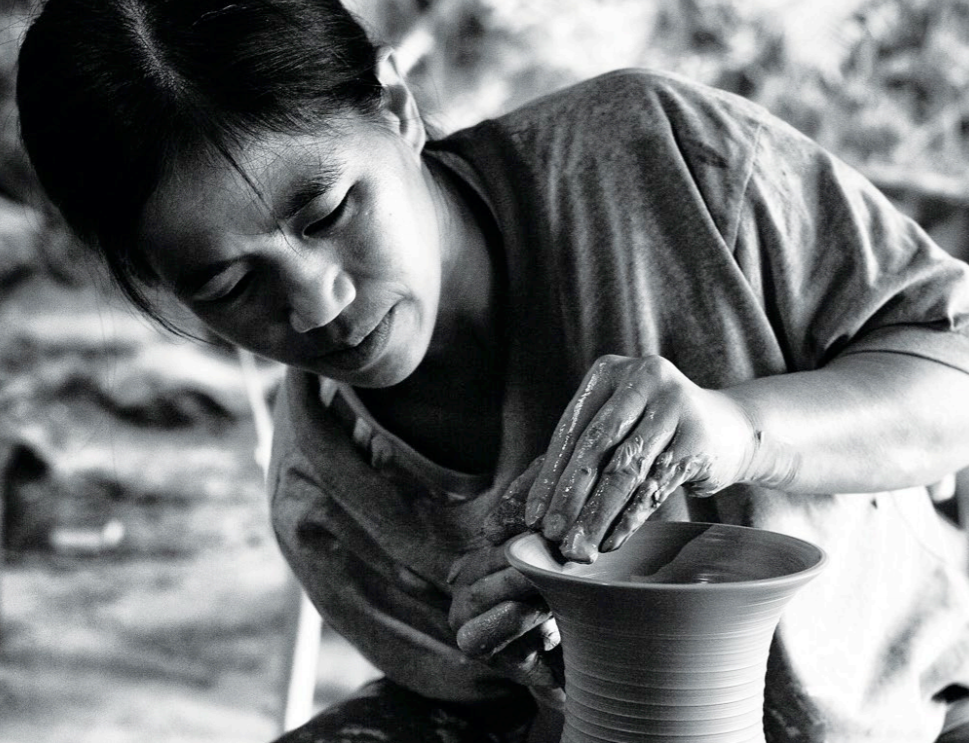 In Sagada, potters like Siegrid Bangyay makes use of locally sourced clay formed using traditional techniques