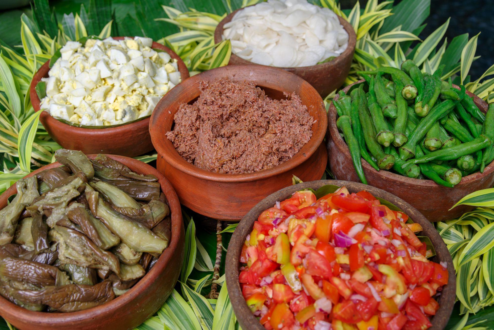 Filipino style salad and bagoong