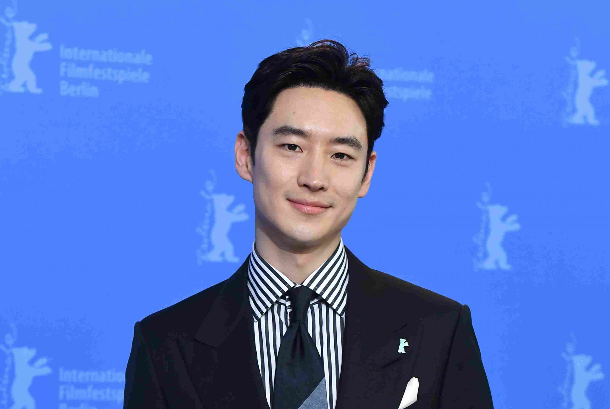 """BERLIN, GERMANY - FEBRUARY 22:  Lee Je-hoon attends the """"Time to Hunt"""" (Sa-nyang-eui-si-gan) photo call during the 70th Berlinale International Film Festival Berlin at Grand Hyatt Hotel on February 22, 2020 in Berlin, Germany.  (Photo by Stephane Cardinale - Corbis/Corbis via Getty Images)"""